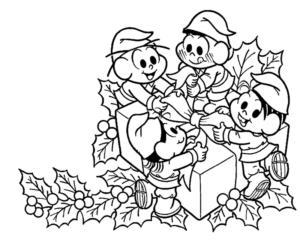 Desenho Para Colorir Natal Da Turma Da Mônica Desenho Para