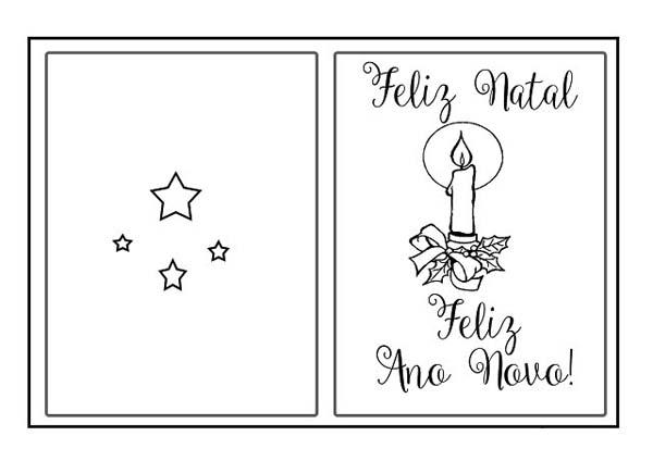 Desenho Capa De Cartao De Feliz Ano Novo Desenho Para Colorir