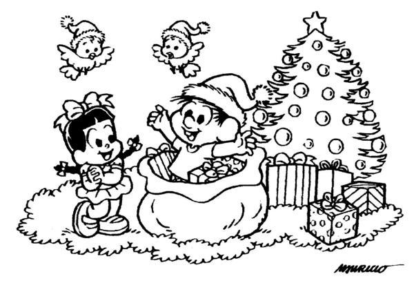 Desenho Chico Bento Surprresa Natal Desenho Para Colorir