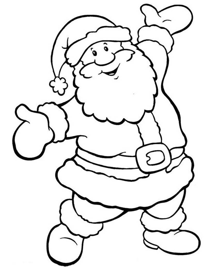 Desenho Papai Noel Feliz Para Colorir Desenho Para Colorir