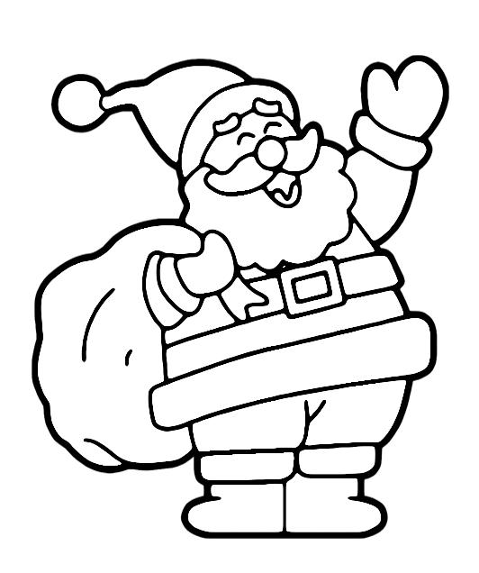 Desenho Papai Noel Para Colorir Desenho Para Colorir