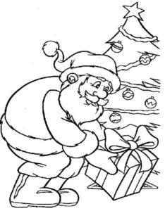 Desenho Para Colorir Do Papai Noel Desenho Para Colorir