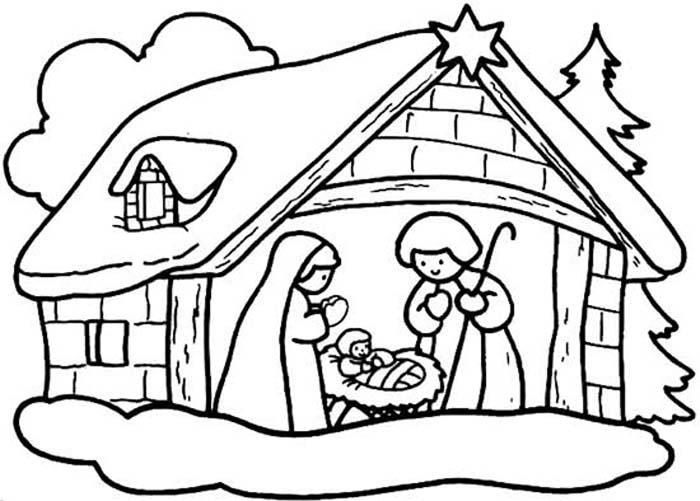 Desenho para Colorir de Natal