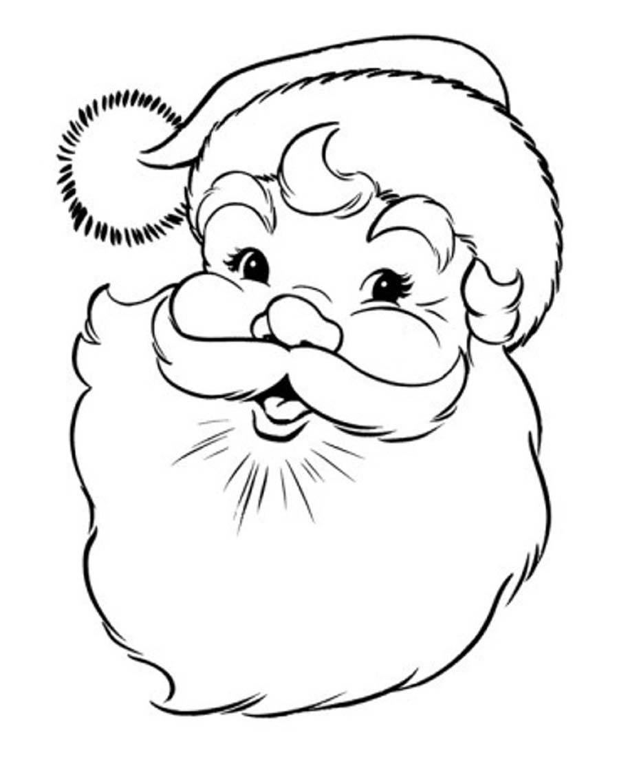 Imagem Papai Noel Para Colorir