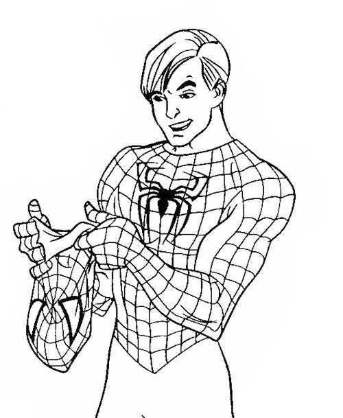 Desenho Homem Aranha Sem Mascara Desenho Para Colorir