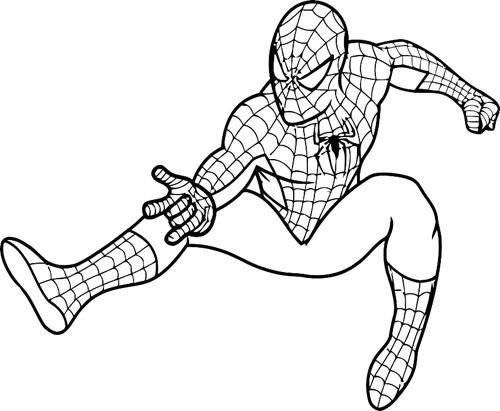 Imprimir Homem Aranha Para Colorir Desenho Para Colorir
