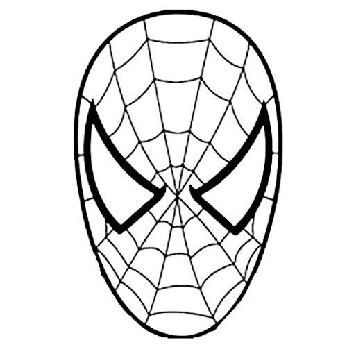 Mascara Do Homem Aranha Para Colorir Desenho Para Colorir