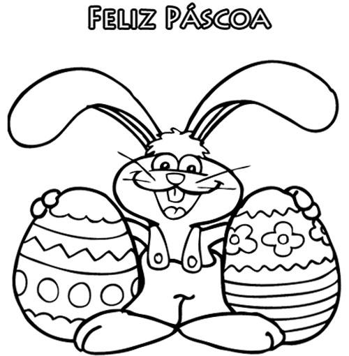 Feliz Pascoa Desenho Para Colorir De Pascoa Desenho Para Colorir