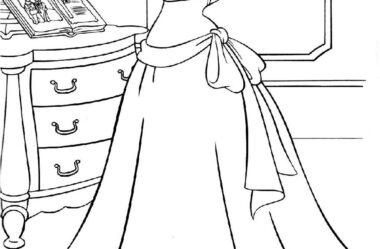 Desenho para Colorir Princesas da Disney